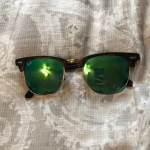 AUTHENTIC RAYBANS reflective club masters